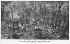 Sisi, Sissi, Kaiserin, Fuchsjagd in Pest (Budapest), Original-Holzstich von 1887