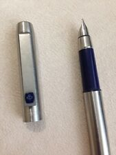 VINTAGE PARKER 25 FLIGHTER BLUE TRIM RIDGE TOP MEDIUM FOUNTAIN PEN-ENGLAND.