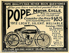 1912  Pope Antique  Motorcycle  Refrigerator  Magnet  Ad