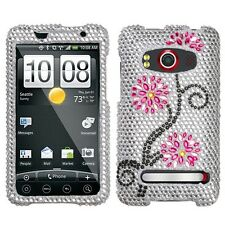 Moon Flowers Crystal Bling Case Phone Cover HTC EVO 4G