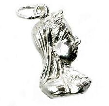 STERLING SILVER QUEEN VICTORIA BUST CHARM