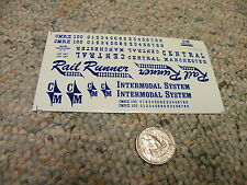 Herald King decals HO Central Manchester Intermodal System Rail Runner blue ZZ56