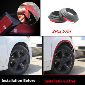 2x Car 57'' Fender Flares Protector Scratch Proof Wheel Eyebrow Trim Antirub Pad