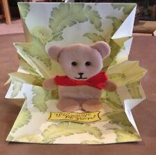 PopShots 3D Pop-Up Valentine's Day CARD - Teddy Bear Birthday  &