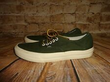 Van's Olive Army Green Skate Shoes RARE! SZ 8.5 Mens SZ 10 Women's