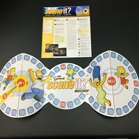 Simpsons Deluxe Scene It? Replacement Parts Game Board And 4 Page Instructions