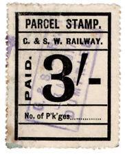 (I.B) Glasgow & South Western Railway : Parcel Stamp 3/- (Dumfries)