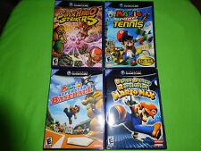 EMPTY REPLACEMENT CASES! Super Mario Strikers Baseball Dance Nintendo GameCube