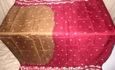 Coffee Maroon Pure Silk 4 yard Vintage Sari Saree daily deals .com Japan #6HSR6