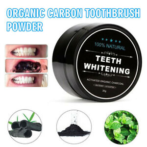 30g Activated Charcoal Powder Natural Organic Black Teeth Whitening Toothpaste
