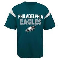 NFL Philadelphia Eagles Boys Youth Performance Cool V-neck Mesh Jersey Shirt
