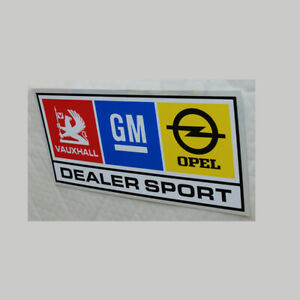 GM Dealersport Sticker 150mm wide, for outside use Vauxhall Opel Rally