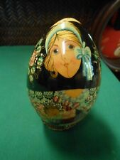 Great Collectible Russian Handpainted Porcelain Egg. Signed