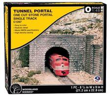 O Scale Woodland Scenics C1267 Cut Stone Single Track Tunnel Portal