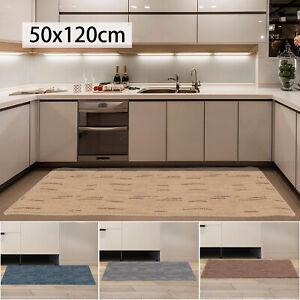 Non-Slip Waterproof Kitchen Door Mat Home Floor Rug Carpet Anti-Oil Easy Clean D