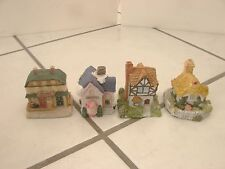 Set of 8 Cottages Business Houses Museum Collections small detailed vintage
