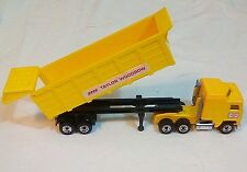 "EUC Matchbox Kenworth Taylor Woodrow Convoy Semi Tipper Truck Yellow 6.5"" Long"