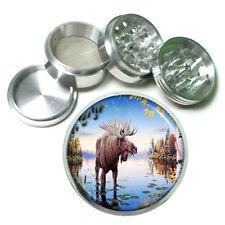 Moose Aluminum Grinder D4 63mm 4 Piece Elk Deer Herbivore Mammal Forest Animal
