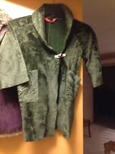 Crewcuts Coat Green Faux Shearling Med 4/5 $198 NWT