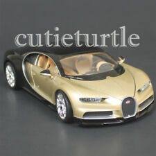 Welly Bugatti Chiron 1:24 Diecast Model Toy Car 28077D Two Tone Gold Black