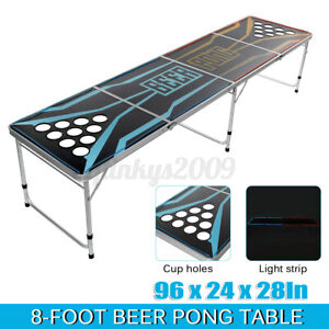 BEER PONG TABLE 8ft FOLDING Party Drinking Game Birthday Event F