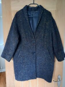 Jigsaw Coat Alpaca Mohair Wool Mix Size Small