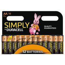 Lot de 12 Duracell Simply AA Piles alcalines LR6 MN1500 Alcaline 1.5V durable