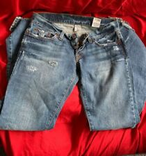 """Lucky Brand Jeans Distressed Size 2/ 26 Button fly Inseam 31 1/4"""" Rise 6 1/2"""""""