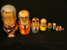 Poupées Russes gigogne des présidents en bois années 2000