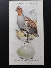 No.26 PARTRIDGE  - British Birds & Their Eggs by Ogdens Ltd 1939