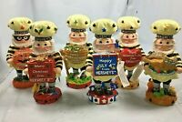 Hershey's Lot of 6 Thanksgiving 4th of July Christmas Halloween Patrick Figurine
