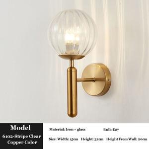 Industrial Sconce Spherical LED Wall Light Vintage Glass Ball Wall Lamp Bar Loft
