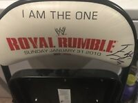 WWE Royal Rumble CHAIR 2010 AUTOGRAPHED SIGNED By Winner Edge Chris Jericho