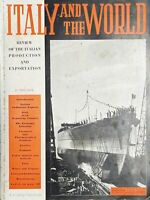 Review of the Italian production - Italy and the World N. 1 - 1940 Ship Littorio