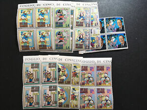 San Marino Francobolli Serie Walt Disney 1970 Quartine Nuova