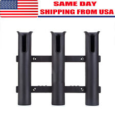 Plastic Fishing Rod Holder Boat Yacht 3 Pole Tube Rack Mounting Bracket Usa