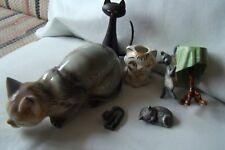 1 Stk. Katze für Sammler Porzellan Holz Zinn Ton 4-15cm SÜSS RARITÄT