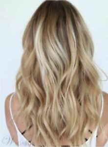 Hot Sell Wig New Fashion Sexy Women's Long Brown Mix Blonde Wavy Natural Wigs