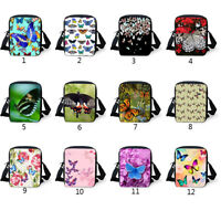 Butterfly Crossbody Shoulder Casual Tote Small Messenger Schoolbag Fashion Purse