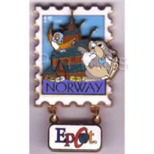 Disney Pin: Epcot Stamp Pin Series #2 - Norway (Thumper) Dangle/3D LE 3500