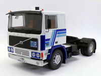 KK Scale Road Kings 1/18 RK180033 - 1977 Volvo F12 Tractor Truck - Blue/White