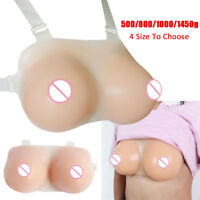 Strap Silicone Fake Breast TV Bust Breast Forms Crossdress Mastectomy False Boob