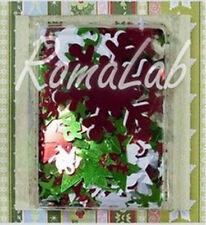 10 grammi di abbellimenti sottili colore metallizzato bianco rosso e verde a ...