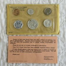 USA 1961 5 COIN PROOF YEAR SET WITH SILVER - insert/envelope