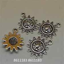 20pc Tibetan Silver Sunflower Pendant Charms Beads Jewellery Accessories GP428
