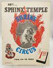 48th Annual Sphinx Temple Shrine Circus Souvenir Program February 1980