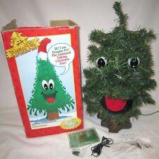 Vintage 1996 Gemmy Singing Douglas Fir Christmas Tree w/Cassette Tape Aux Port