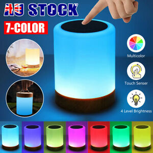 Touch LED Night Light Bedside Desk Lamp Table Mood USB Dimmable Rechargeable OZ