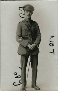 WW1 Officer Royal Artillery with 2x Overseas Chevrons Forest Gate photographer