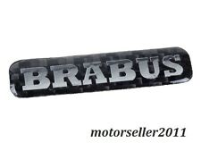 Real Carbon Fiber Brabus Decal Badge Sticker Emblem